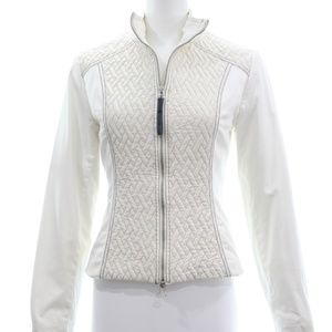LUDMILLA PARIS IVORY QUILTED ZIP JACKET SIZE 2